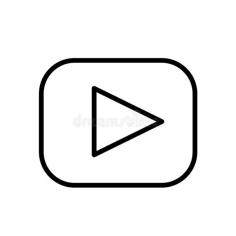 Tecken och symbol för vektor för lekknappsymbol som isoleras på vit bakgrund, begrepp för lekknapplogo royaltyfri illustrationer