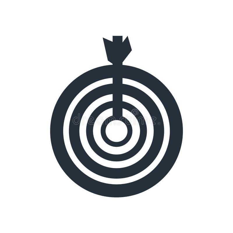 Tecken och symbol för vektor för målsymbolsymbol som isoleras på vit bakgrund, begrepp för målsymbollogo vektor illustrationer