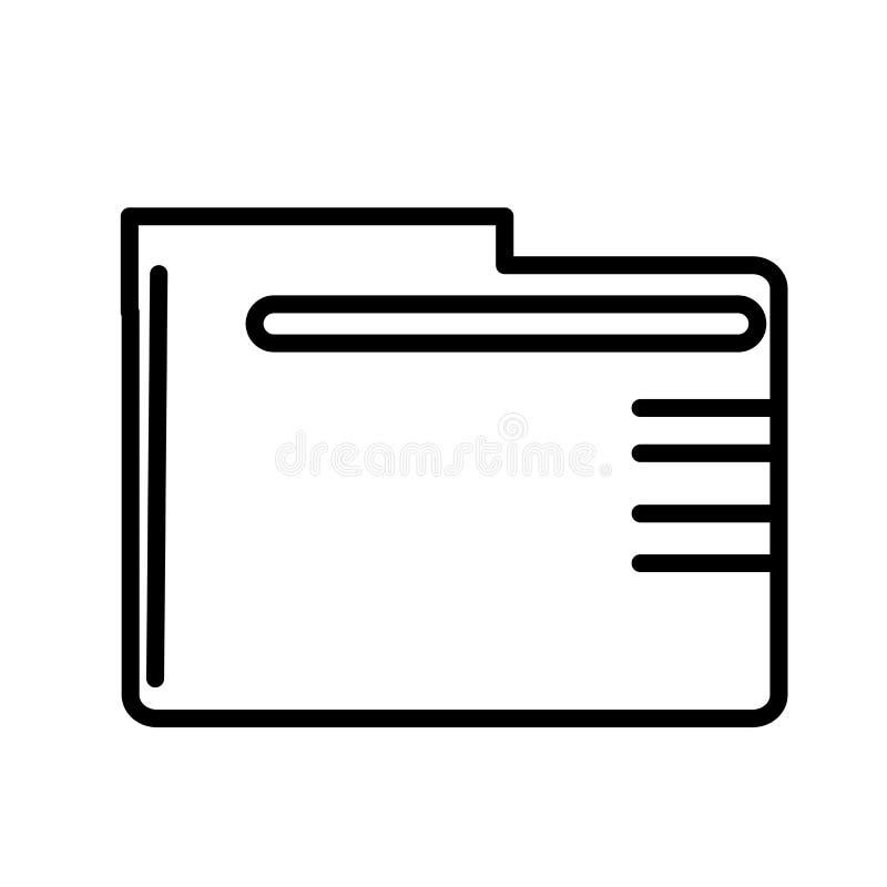 Tecken och symbol för vektor för symbol för mappmapp som isoleras på vit bakgrund, begrepp för logo för mappmapp stock illustrationer
