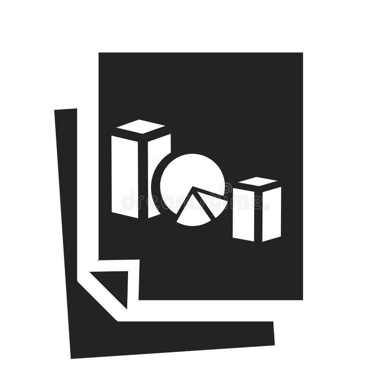Tecken och symbol för vektor för symbol för pajdiagram som isoleras på vit bakgrund, begrepp för logo för pajdiagram royaltyfri illustrationer