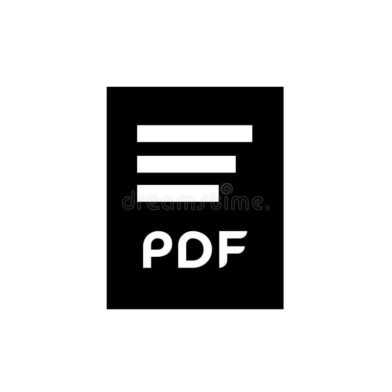 Tecken och symbol för vektor för Pdf-dokumentsymbol som isoleras på vit bakgrund, begrepp för Pdf-dokumentlogo royaltyfri illustrationer