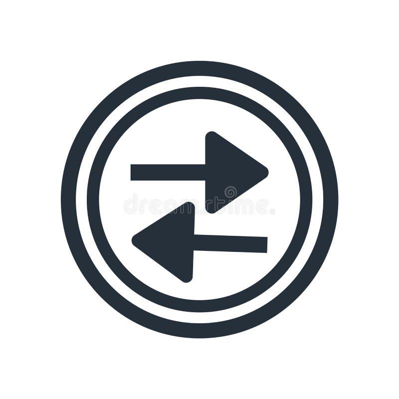 Tecken och symbol för vektor för symbol för presslekknapp som isoleras på vit bakgrund, begrepp för logo för presslekknapp vektor illustrationer