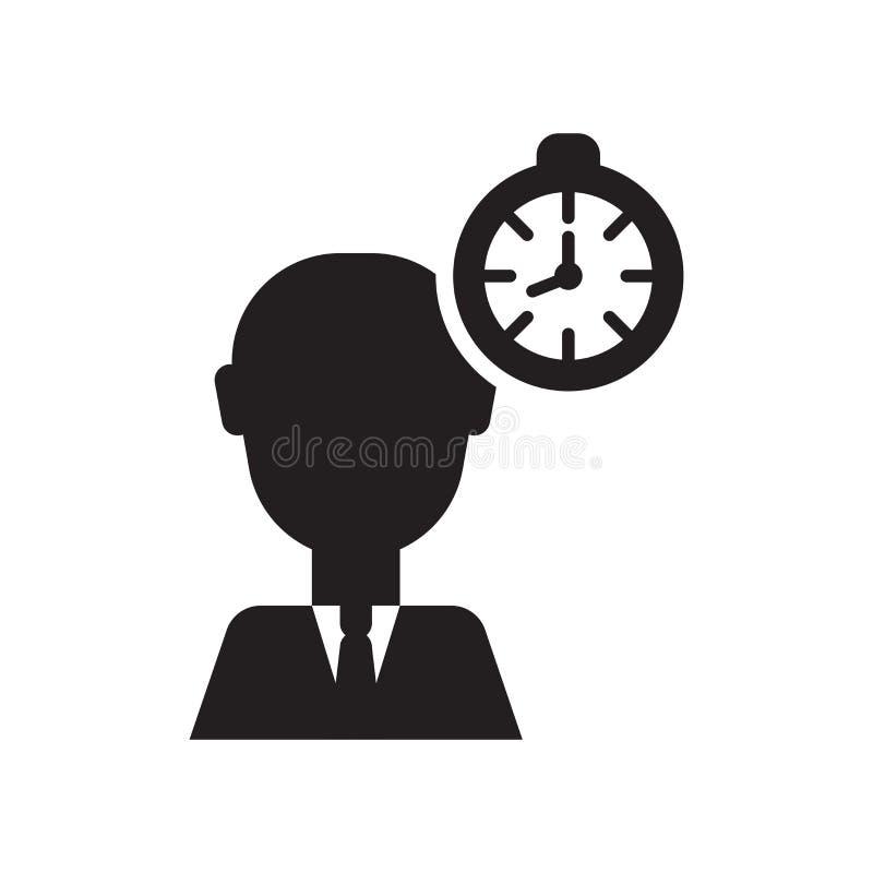 Tecken och symbol för vektor för symbol för projektchef som isoleras på vit bakgrund, begrepp för logo för projektchef vektor illustrationer