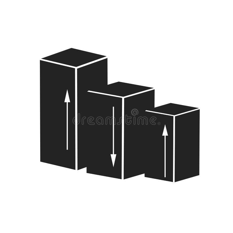 Tecken och symbol för vektor för symbol för stångdiagram som isoleras på vit bakgrund, begrepp för logo för stångdiagram vektor illustrationer