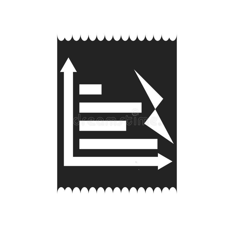 Tecken och symbol för vektor för symbol för stångdiagram som isoleras på vit bakgrund, begrepp för logo för stångdiagram stock illustrationer