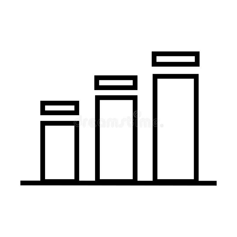 Tecken och symbol för vektor för stångdiagramsymbol som isoleras på vit bakgrund, begrepp för stångdiagramlogo royaltyfri illustrationer