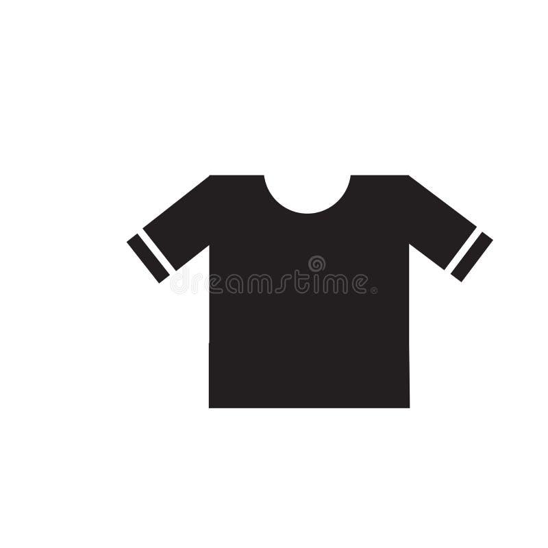 Tecken och symbol för vektor för T-skjortasymbol som isoleras på vit bakgrund, begrepp för T-skjortalogo stock illustrationer