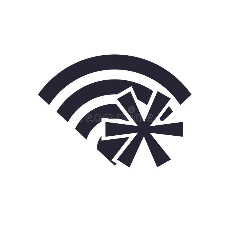 Tecken och symbol för Wifi symbolsvektor som isoleras på vit bakgrund, Wifi logobegrepp stock illustrationer