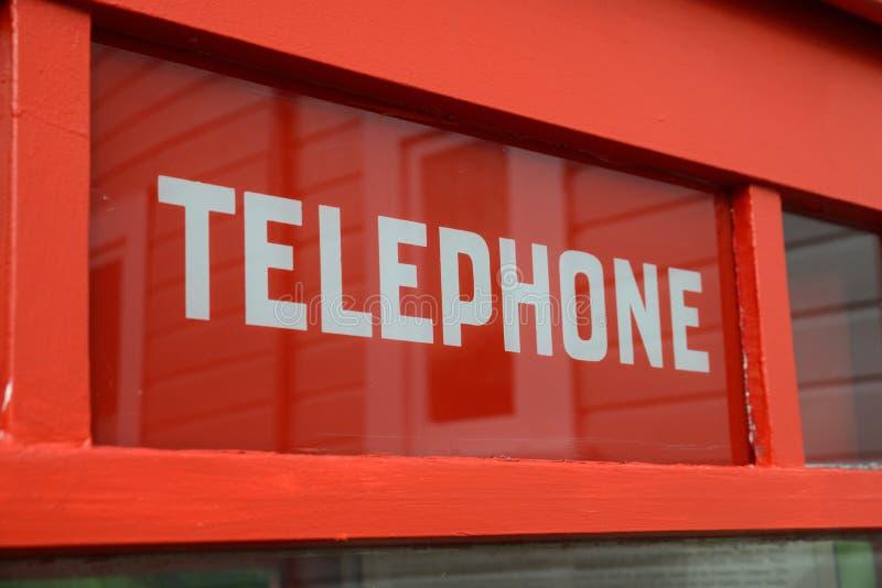 Tecken på den traditionella telefonasken royaltyfria foton