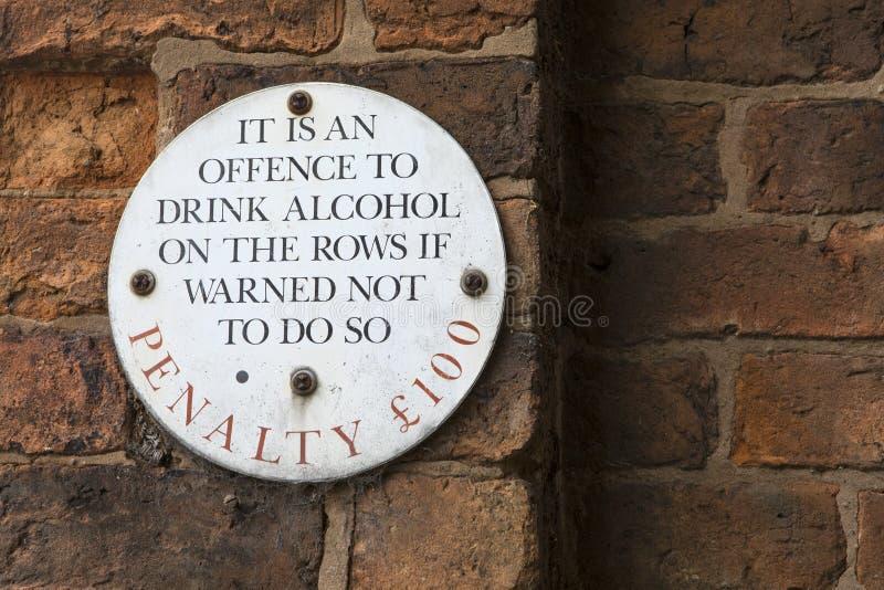 Tecken på raderna i Chester royaltyfri foto