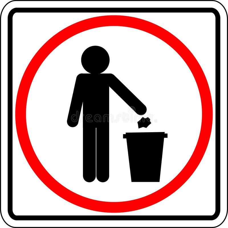 tecken som kastar avfall vektor illustrationer