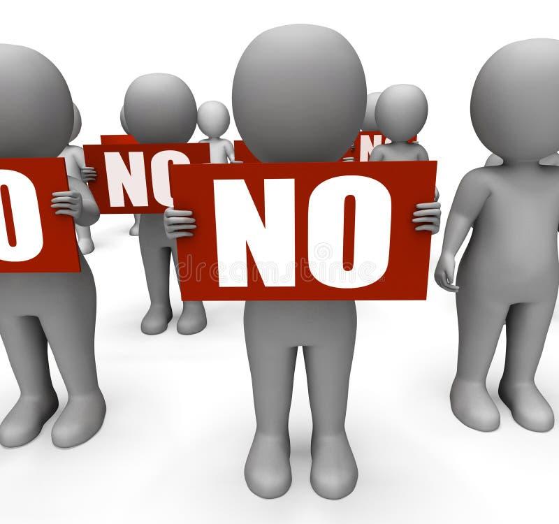 Tecken som rymmer inget teckenmedel förbjudit eller royaltyfri illustrationer