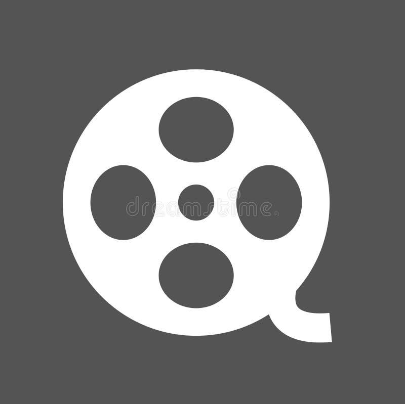 Tecken Symbo för symbol för filmrulle vektor illustrationer