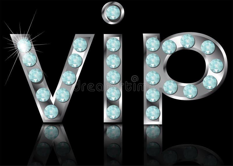 Tecken vip stock illustrationer