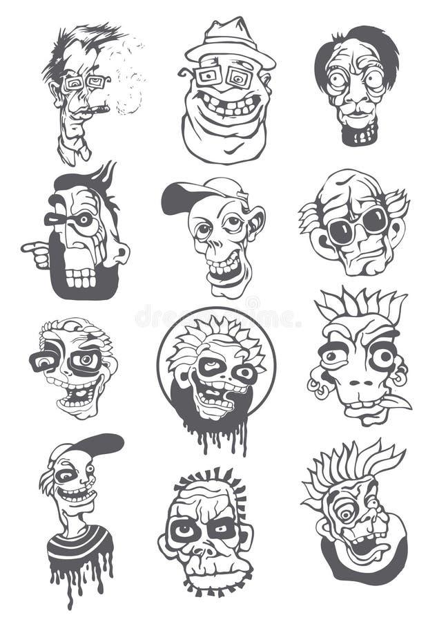 teckendiagramstil stock illustrationer