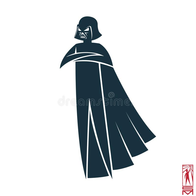Teckenet av Darth Vader stock illustrationer