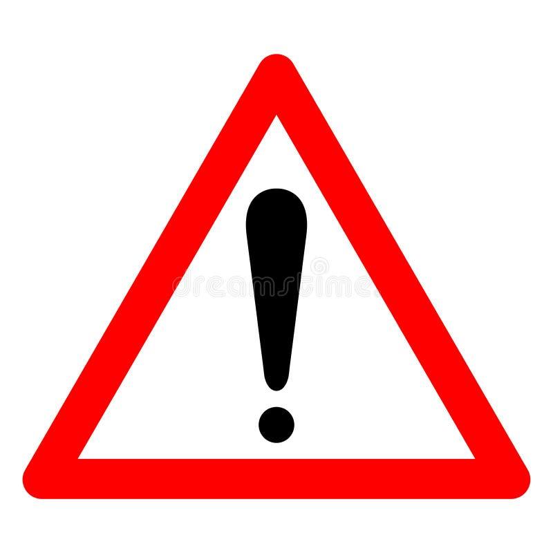 Teckenisolat för varnande symbol på vit bakgrund, vektorillustration EPS 10 stock illustrationer