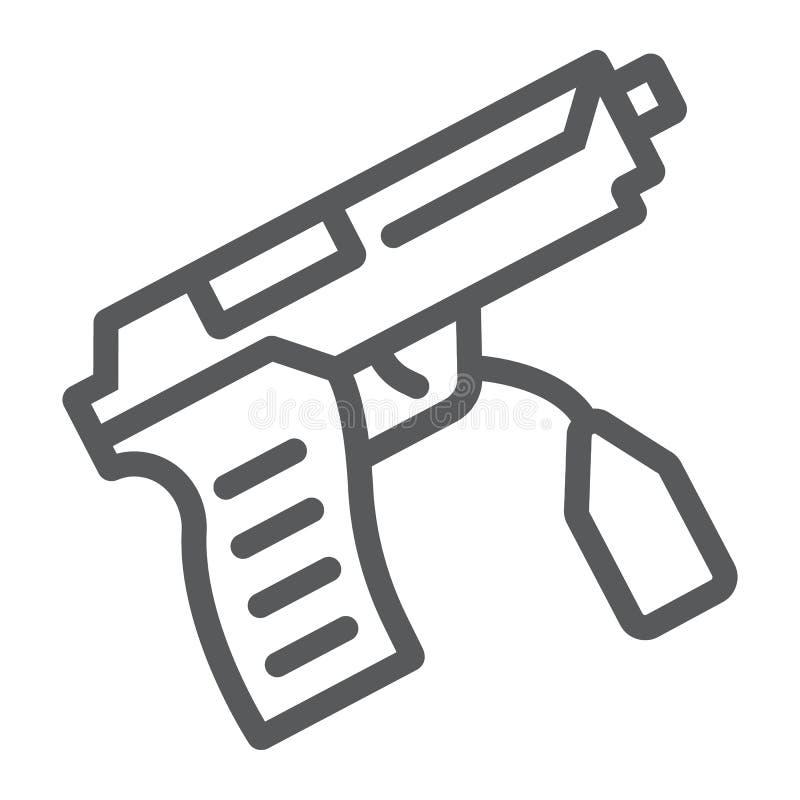 Teckenlinje symbol, lag och brott, vapentecken, vektordiagram, en linjär modell på en vit bakgrund stock illustrationer