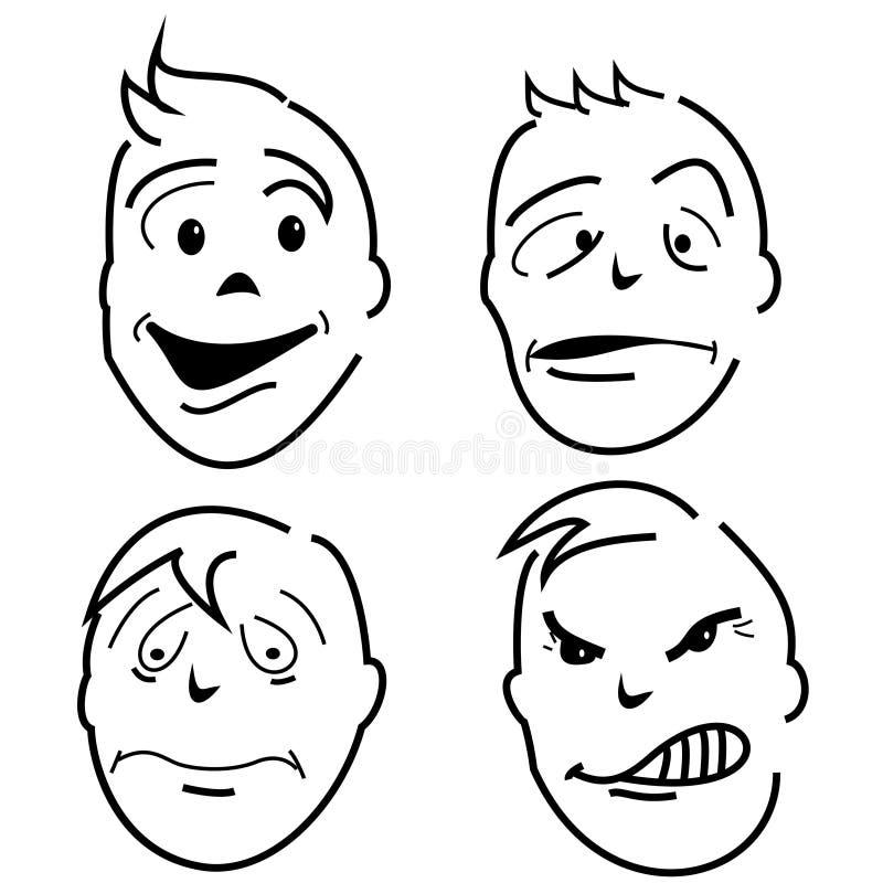 teckenmeningar stock illustrationer