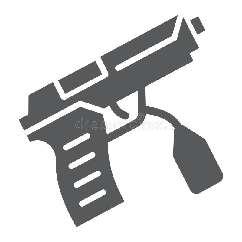 Teckenskårasymbol, lag och brott, vapentecken, vektordiagram, en fast modell på en vit bakgrund vektor illustrationer