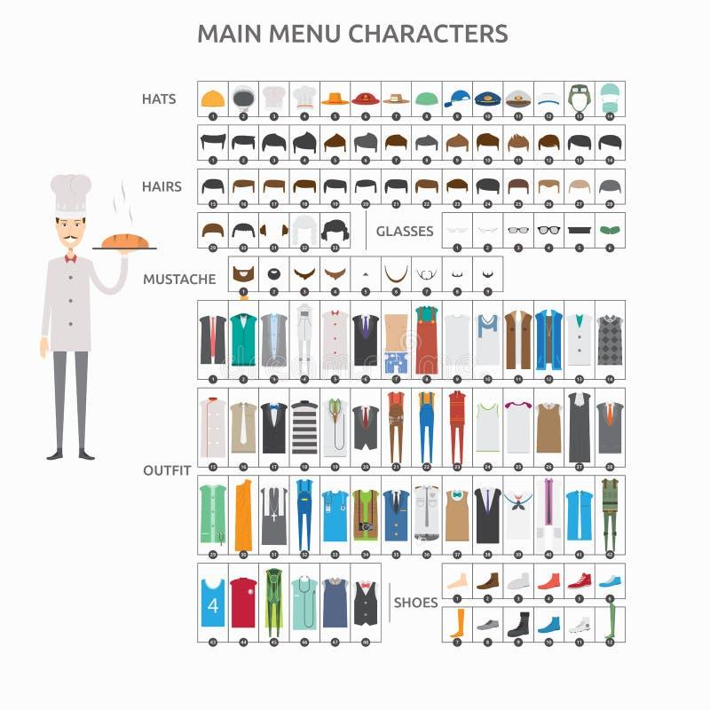 Teckenskapelsebagare stock illustrationer