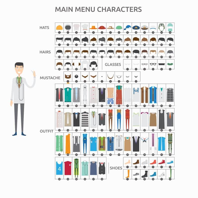 Teckenskapelsedoktor stock illustrationer