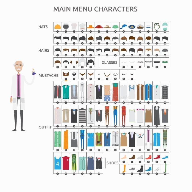 Teckenskapelseforskare royaltyfri illustrationer