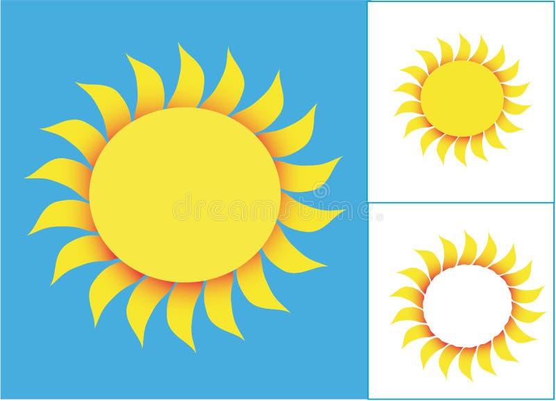 teckensun vektor illustrationer