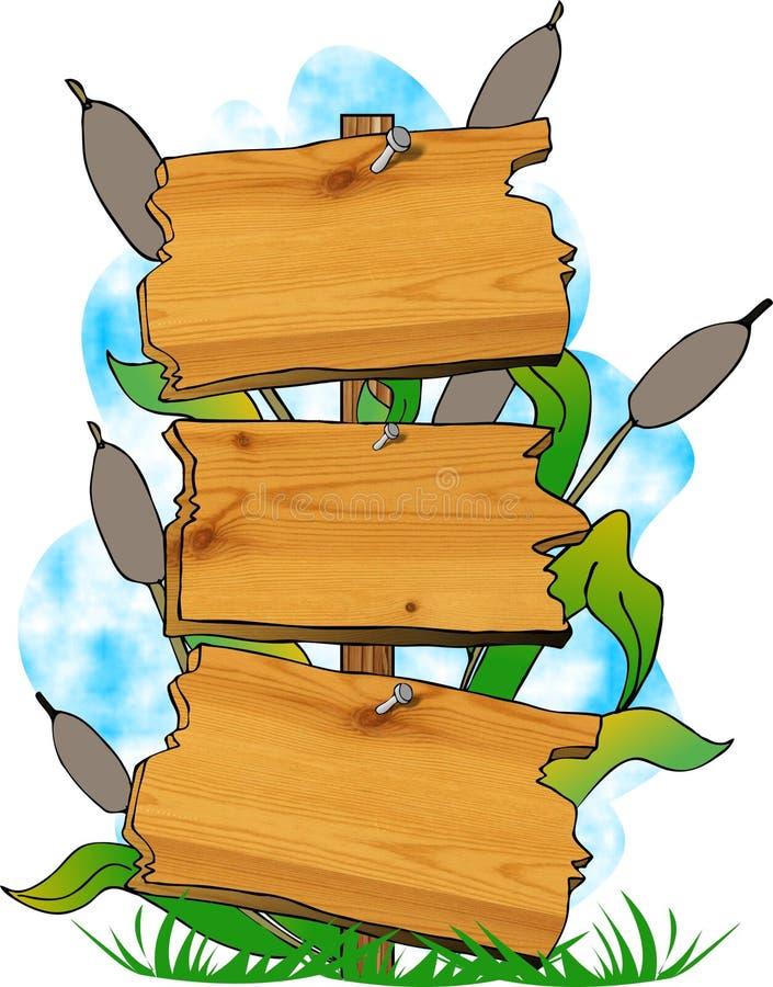 teckenswamp vektor illustrationer