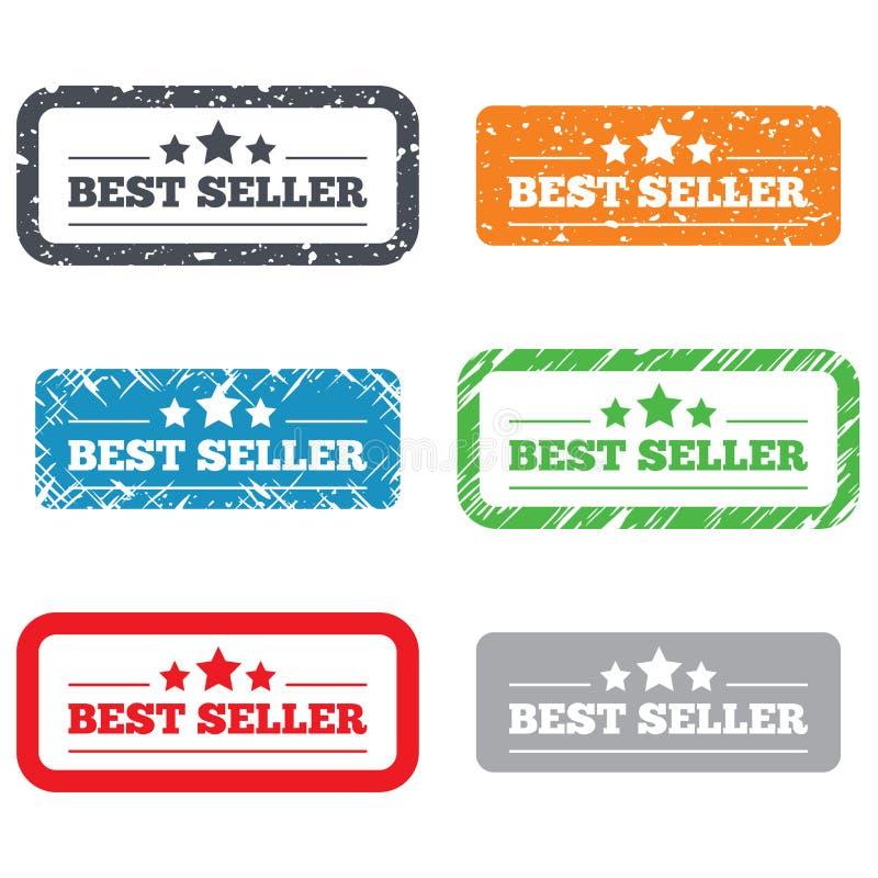Teckensymbol för bästa säljare. Utmärkelsesymbol för bästa säljare royaltyfri illustrationer