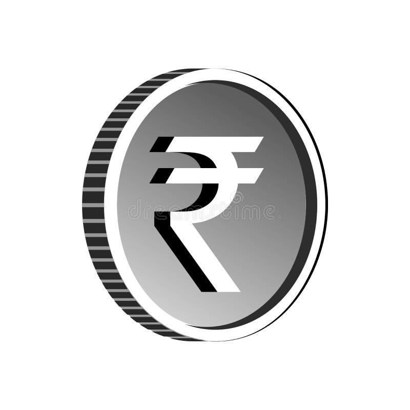 Teckensymbol för indisk rupie, enkel stil royaltyfri illustrationer