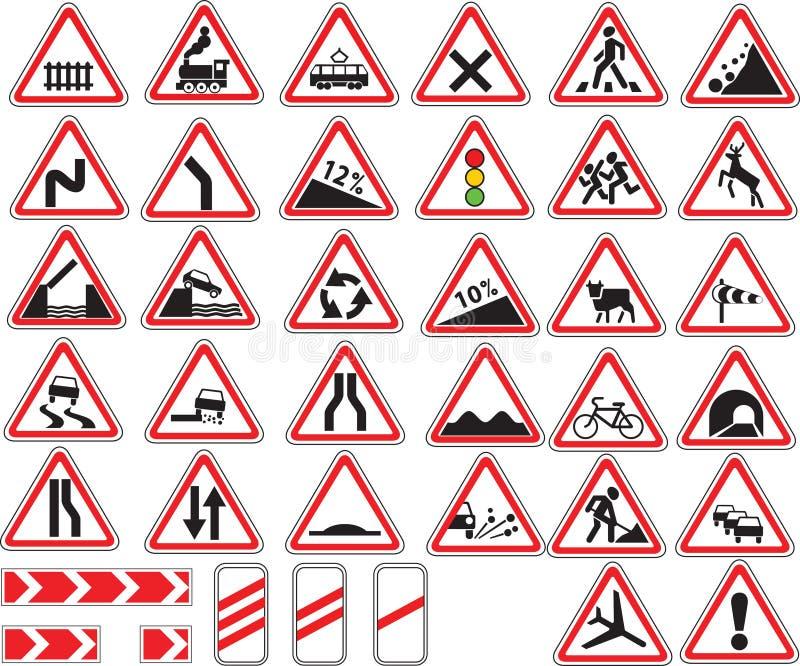 teckentrafik vektor illustrationer