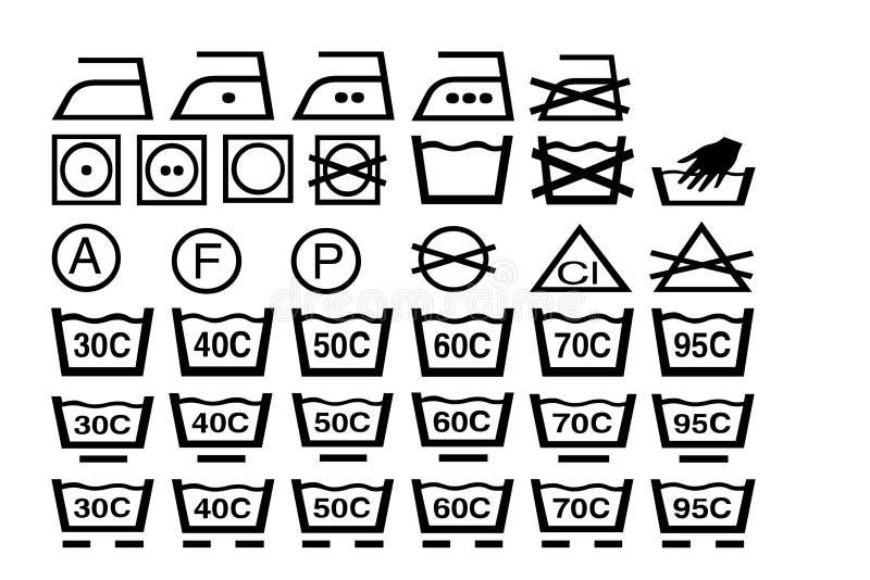 teckentvätt royaltyfri illustrationer