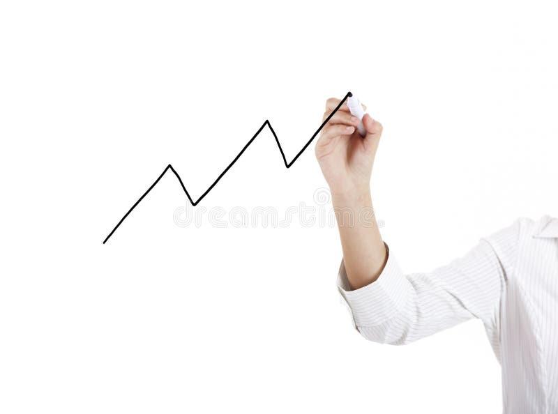 Teckna ett diagramdiagram fotografering för bildbyråer