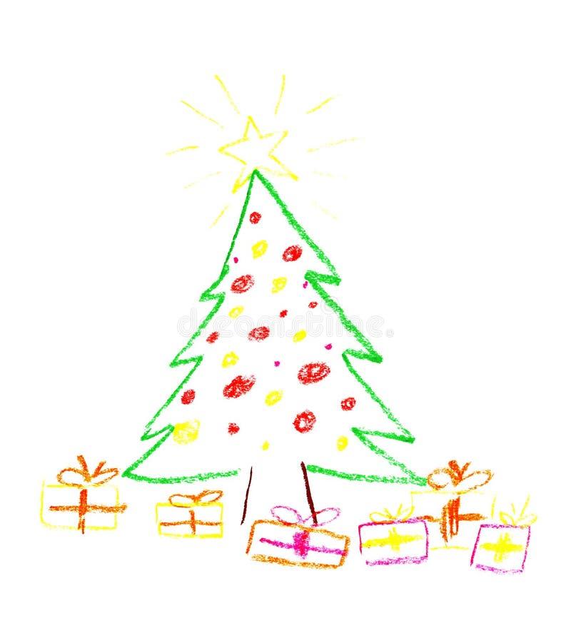 teckna för jul stock illustrationer