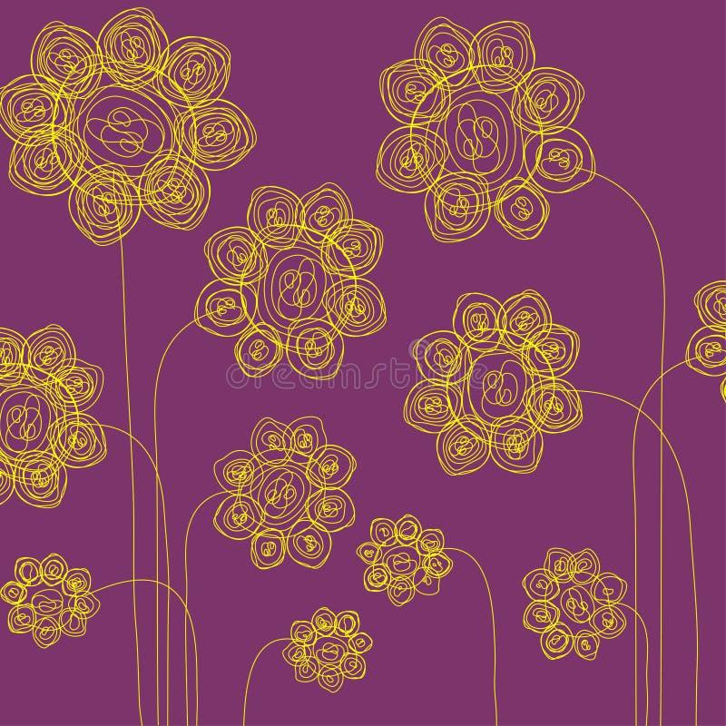 Download Tecknad blommahand vektor illustrationer. Illustration av naturligt - 19793921