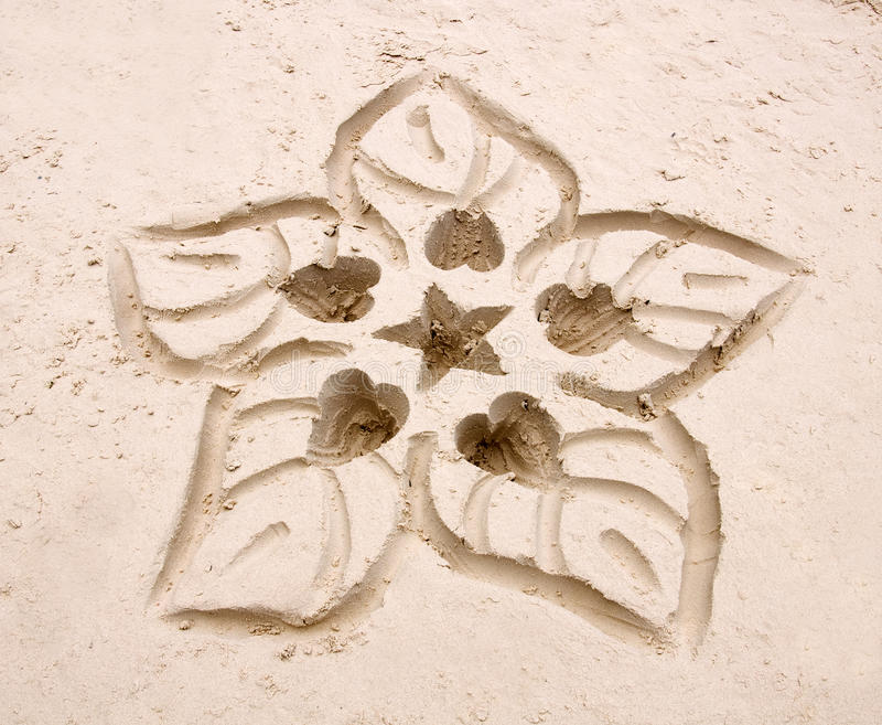 tecknad blommahand arkivfoton