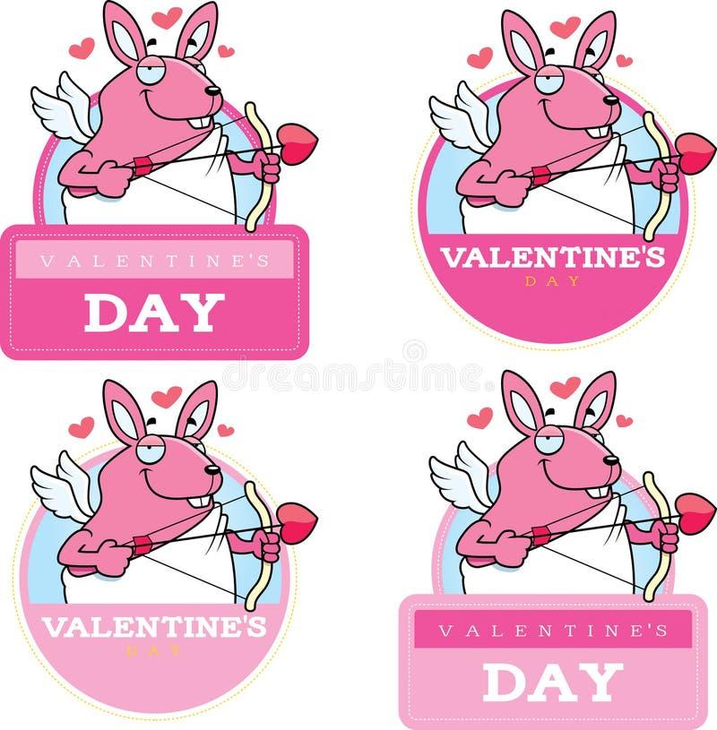 Tecknad film Bunny Cupid Graphic vektor illustrationer