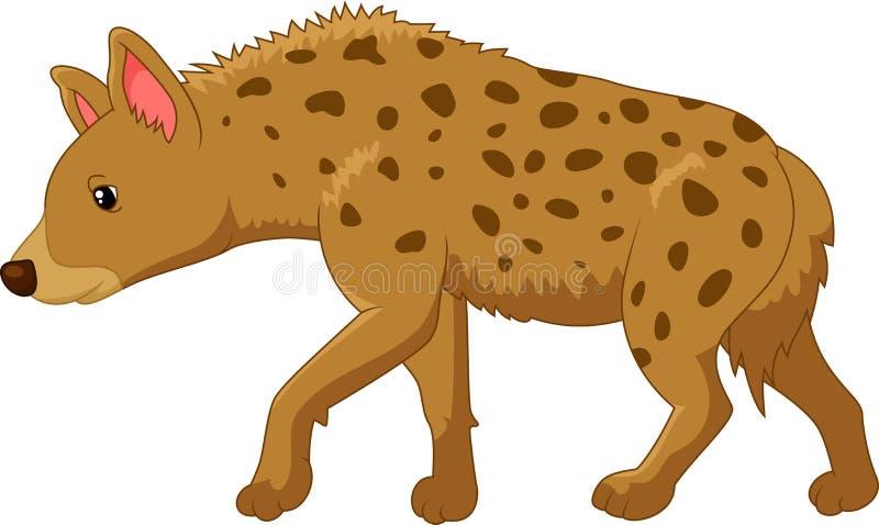 Tecknad film en hyena vektor illustrationer