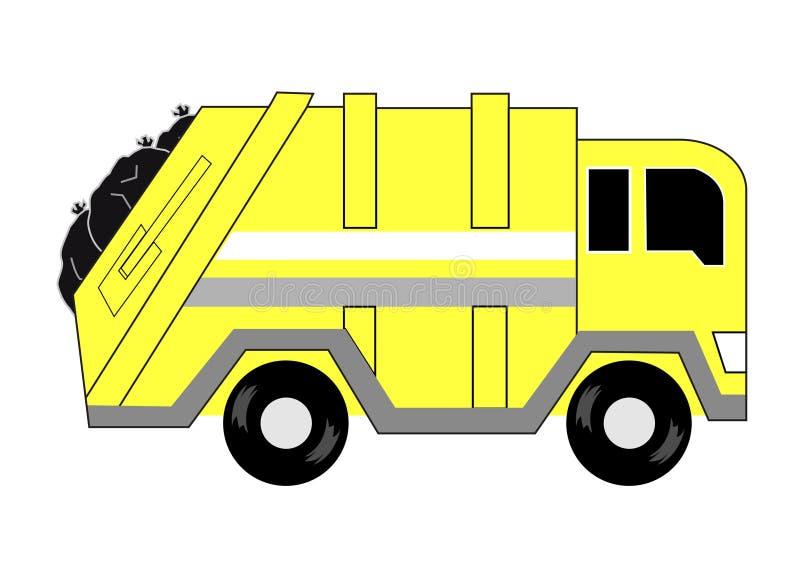 Tecknad film för avskrädelastbil stock illustrationer