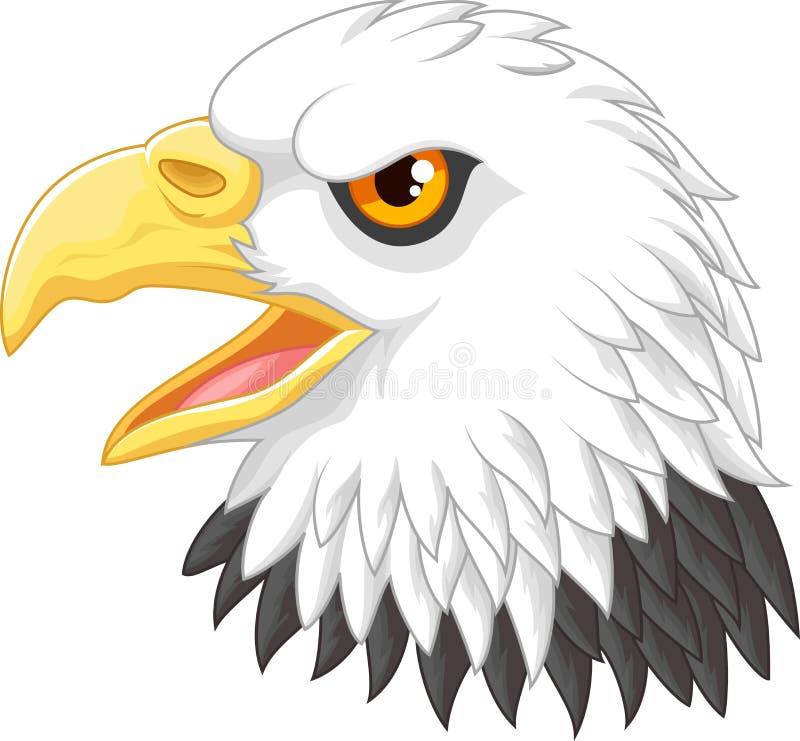 Tecknad film för Eagle huvudmaskot stock illustrationer