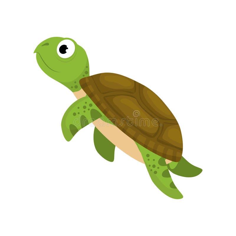 Tecknad film för marin- sköldpadda royaltyfri illustrationer