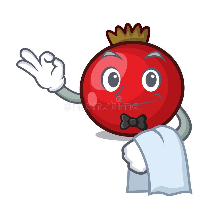 Tecknad film för maskot för röd vinbär för uppassare royaltyfri illustrationer