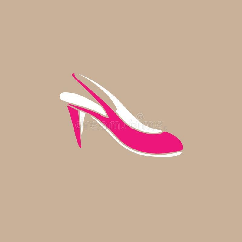 Tecknad film för skor för läder för hög häl för skodon vektor illustrationer