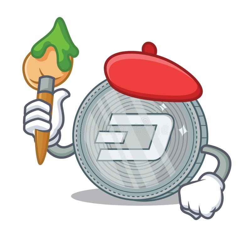Tecknad film för tecken för konstnärDash mynt royaltyfri illustrationer