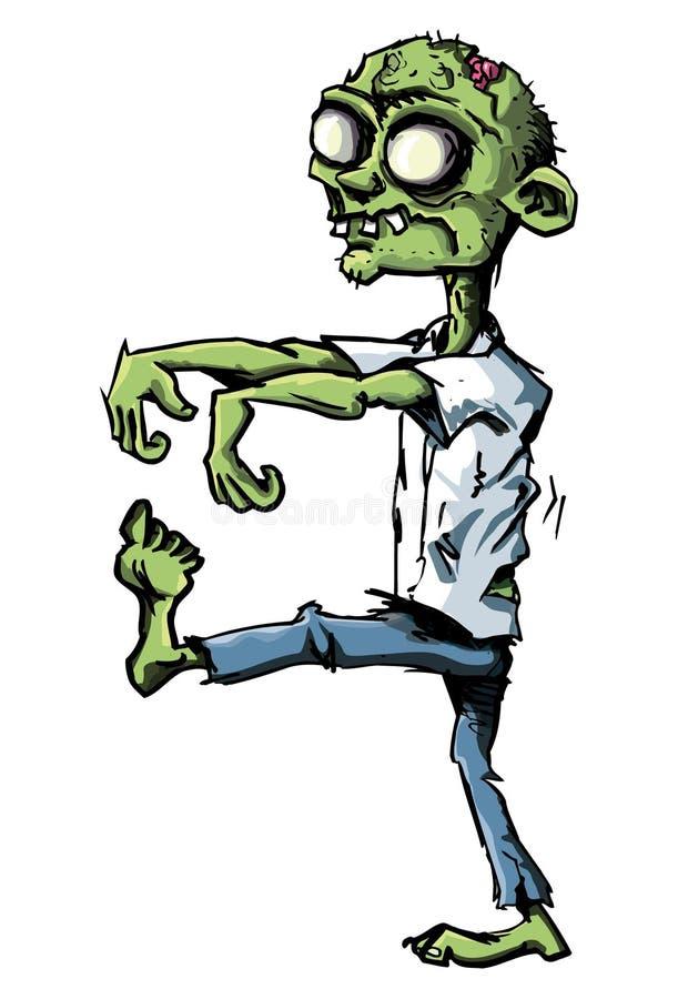 Tecknad Film Isolerad Vit Zombie Royaltyfria Foton
