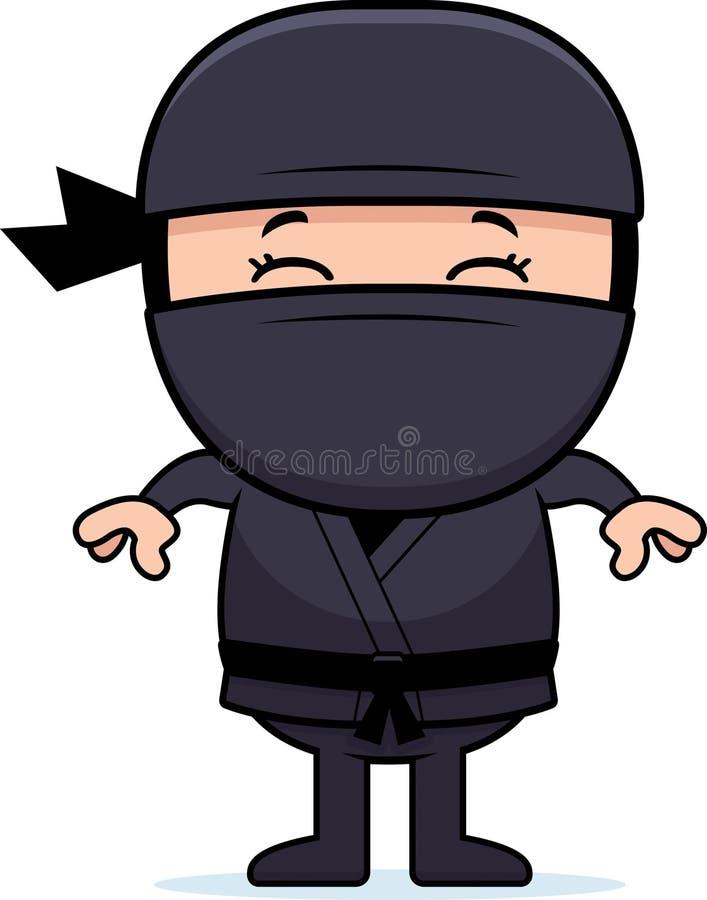 Tecknad film lilla Ninja royaltyfri illustrationer