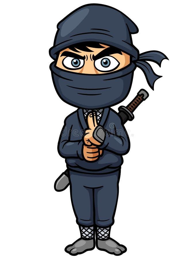 Tecknad film Ninja royaltyfri illustrationer