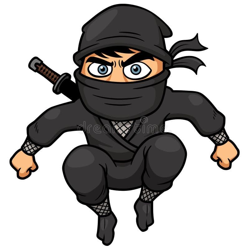 Tecknad film Ninja stock illustrationer