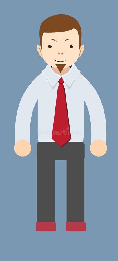 Tecknad film som ler affärsmannen vektor vektor illustrationer